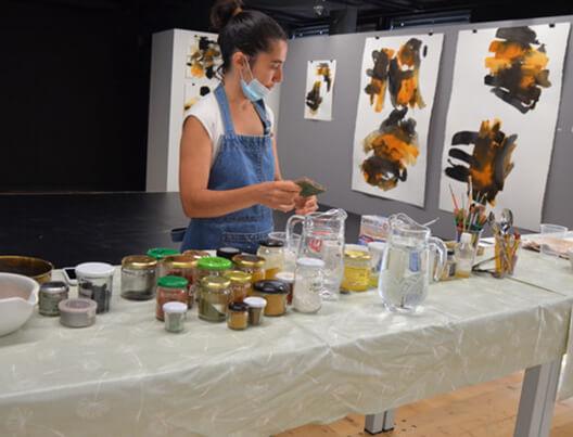 Atelier dans l'exposition